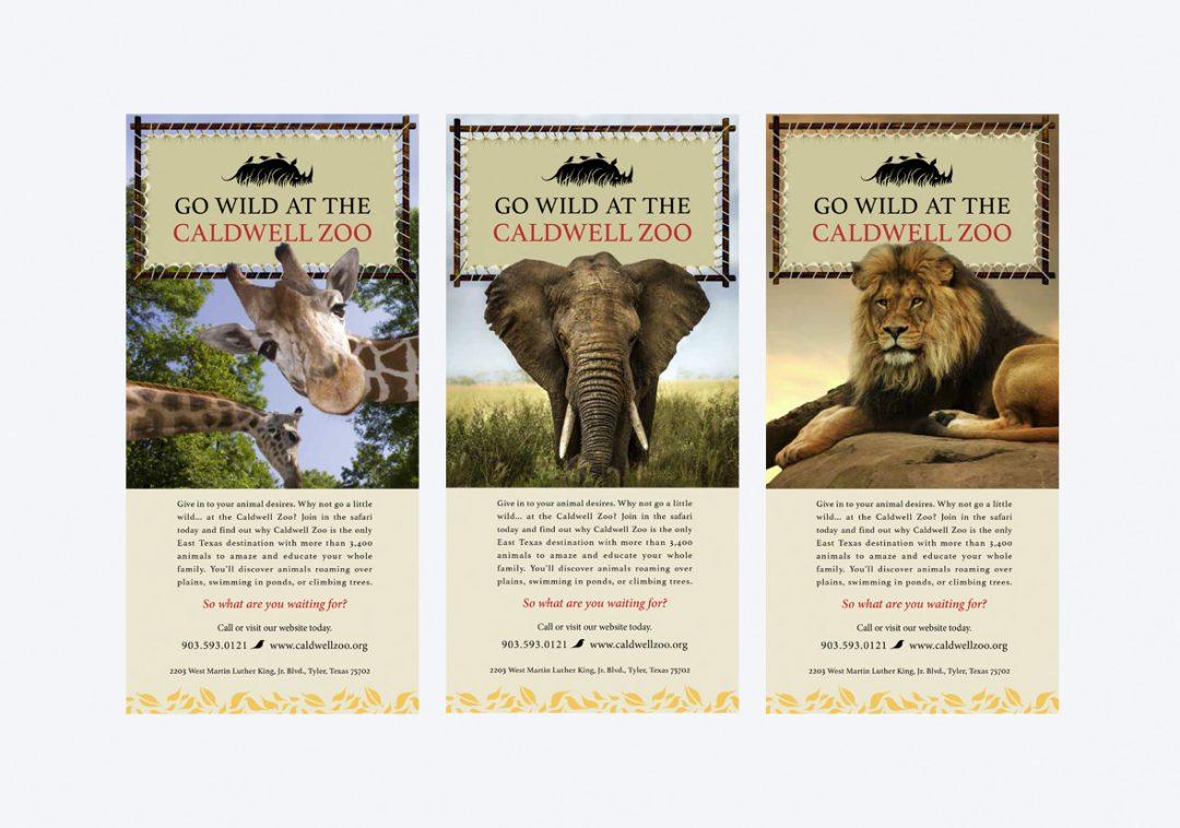 Caldwell Zoo Go Wild Print Ads